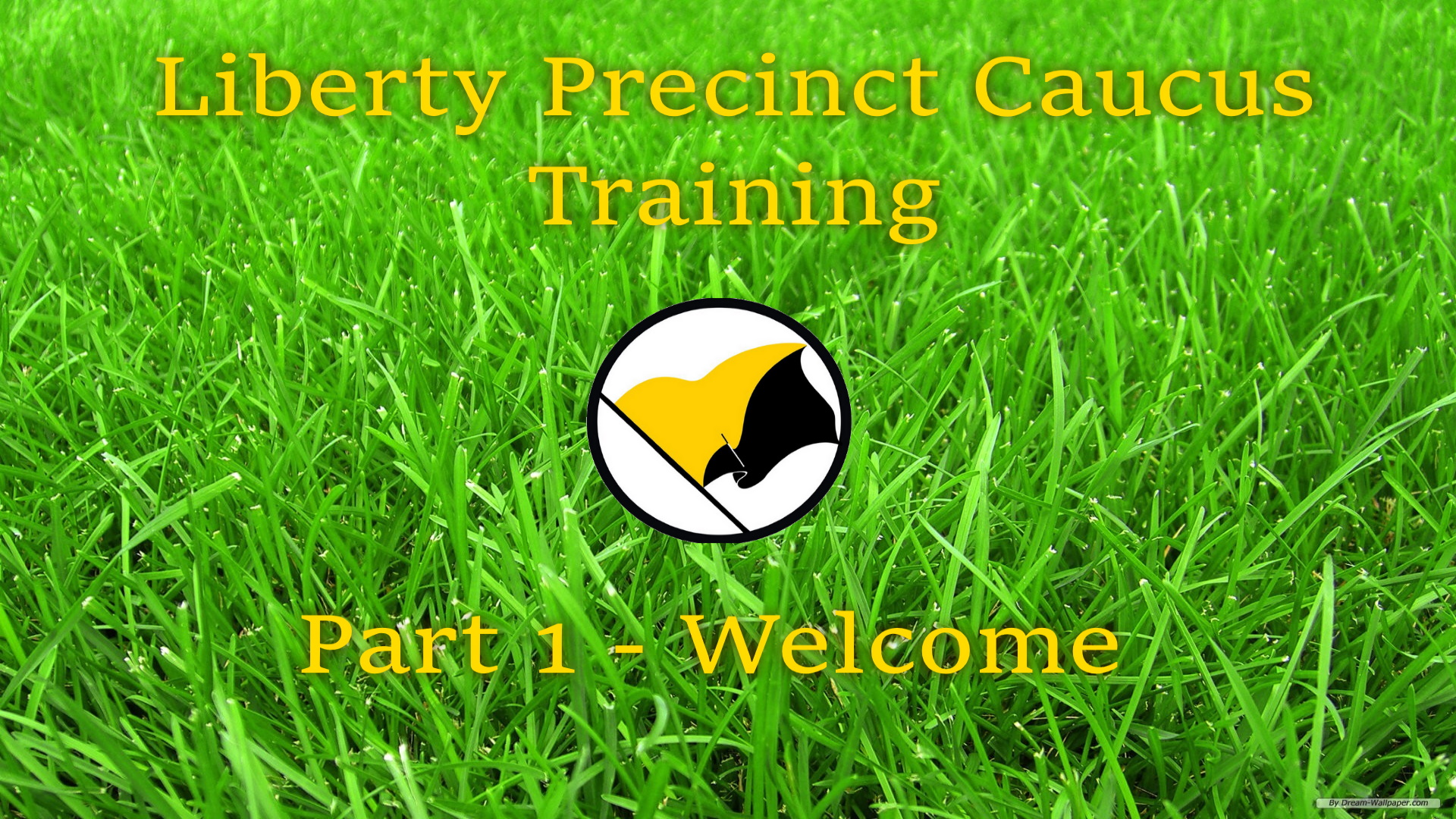 LPC Training Part 1 Welcome